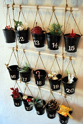 Diy Bucket And Branch Advent Calendar
