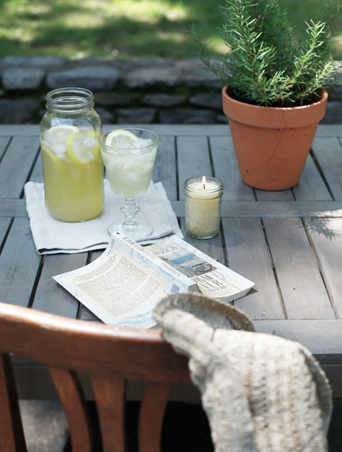 beeswax citronella candles (via designsponge)