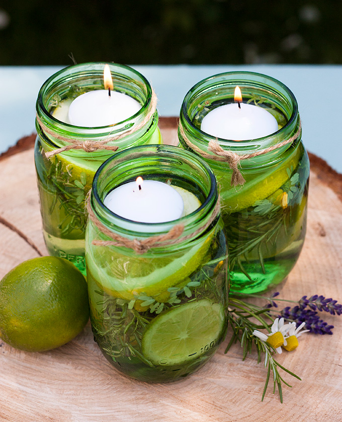 summer citronella floating candles