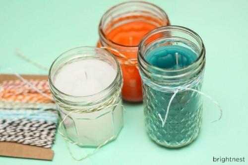 colorful citronella candles