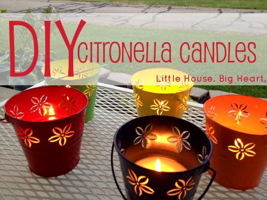 bucket repellent candles