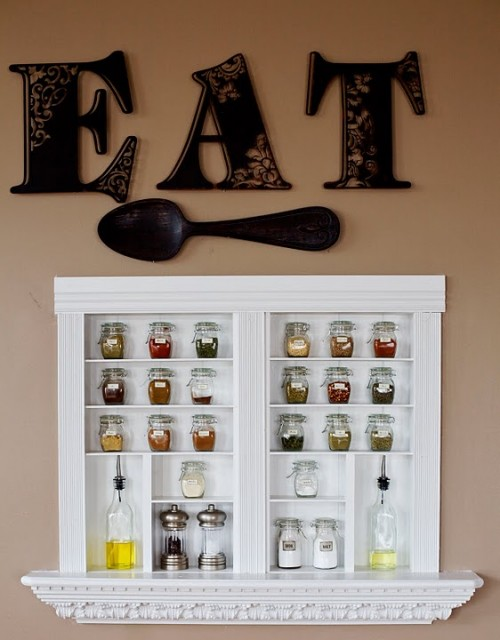DIY Built-In Spice Racks