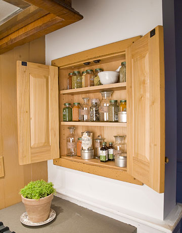 Built-in spice cabinet