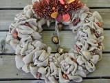 acorns and burlap wreath