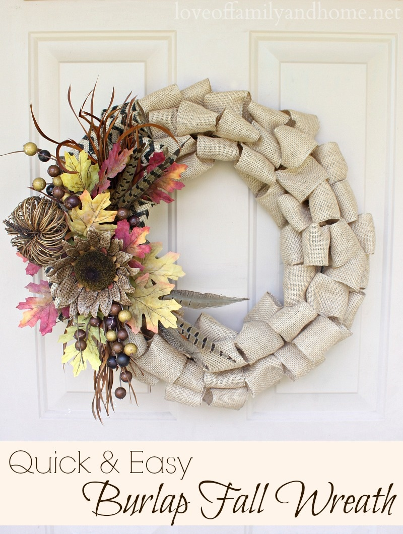 creative burlap wreath