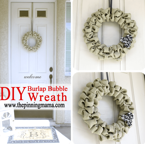 burlap bubble wreath (via shelterness)