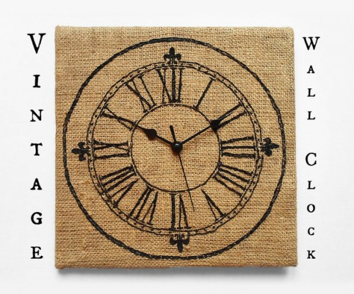burlap clock (via instructables)