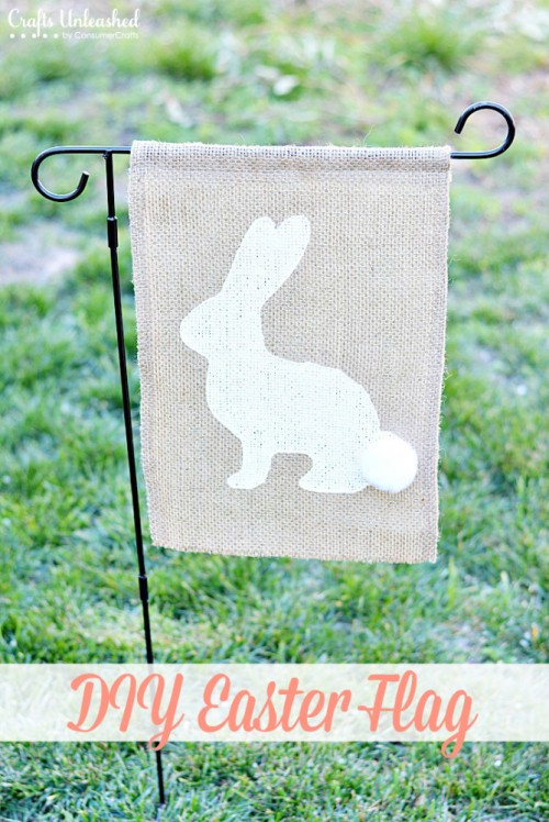 burlap flag (via craftsunleashed)
