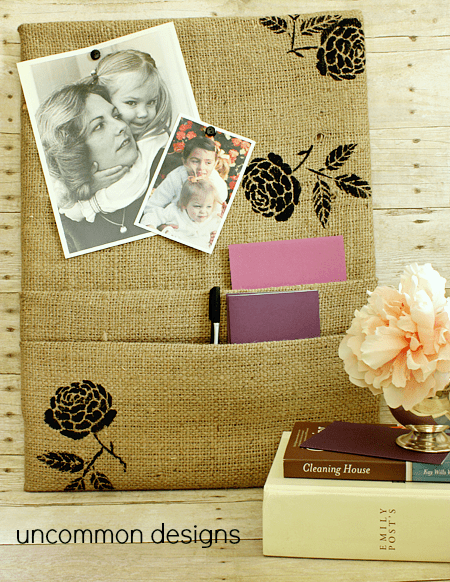 burlap cork board (via uncommondesignsonline)