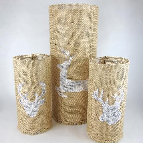 burlap candleholders (via shelterness)
