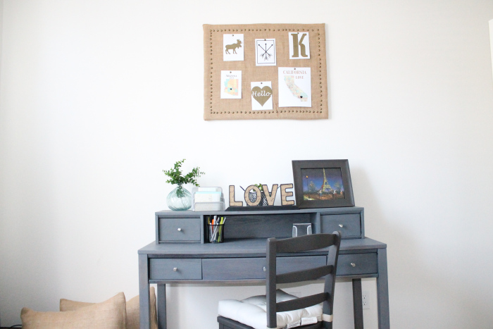 Picture Of diy burlap pinboard with a brass frame  6