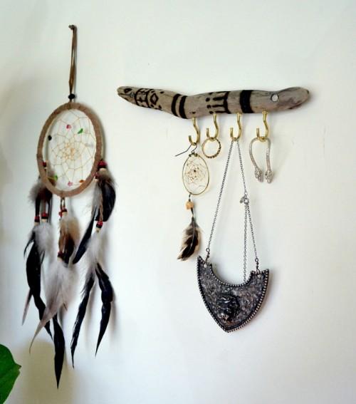 Diy Burned Wood Jewelry Display
