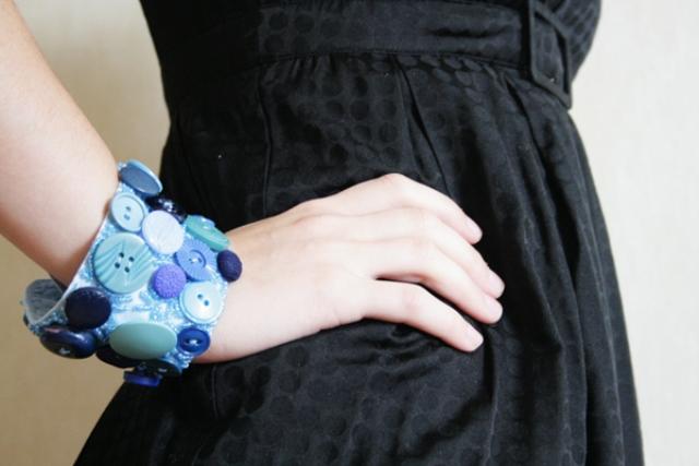 Diy Button Cuff Bracelet