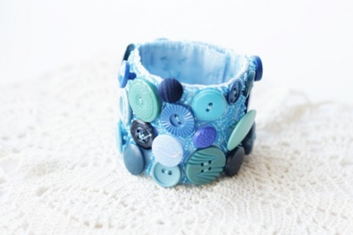 Diy Button Cuff Bracelet