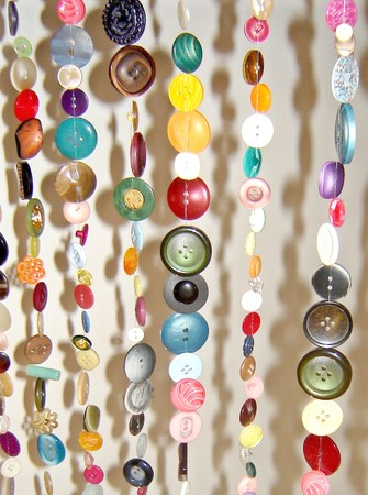 DIY Curtains Made of 2000 Buttons