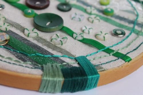 Diy Button Hoop Art Piece