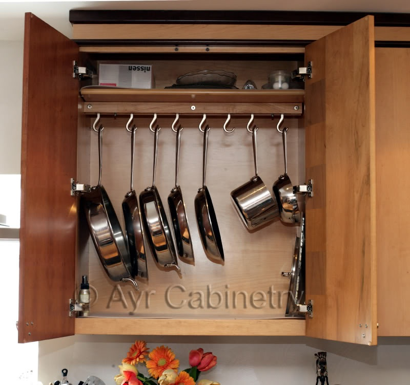Picture Of Diy Cabinet Pot Rack