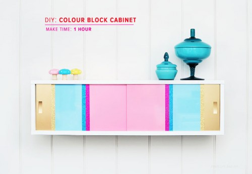 color blocked cabinet