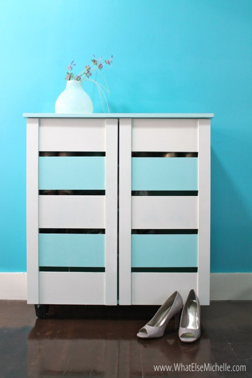 cool pastel cabinet makeover (via whatelsemichelle)