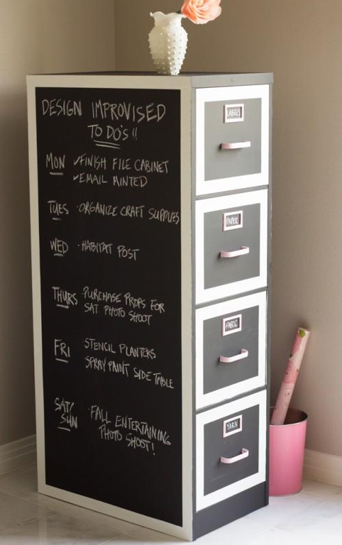 chalkboard cabinet revamp (via designimprovised)