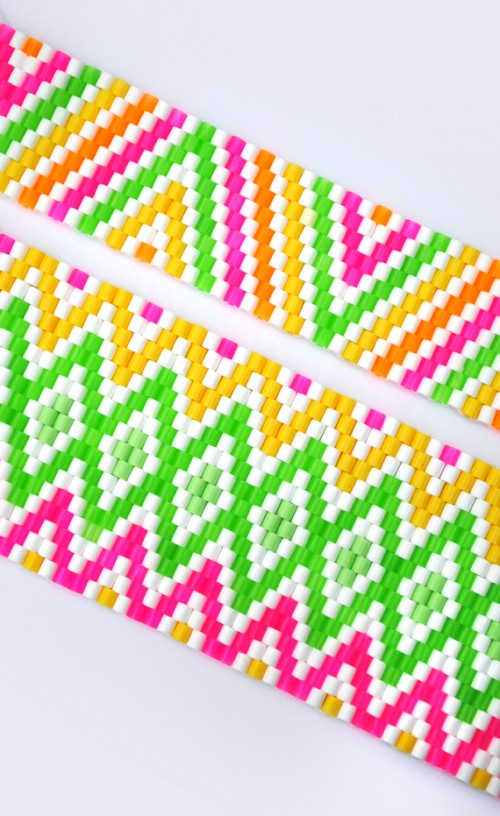 Diy Candle Holders Of Colorful Beads