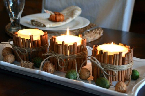 11 DIY Candles And Candle Wraps For Thanksgiving