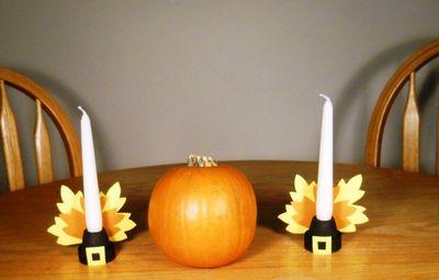 paper leaves candleholders (via sierraclub)