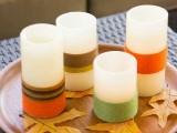 yarn wra[[ed candles