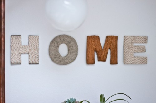 Diy Cardboard And Thread Letters For Home Decor Shelterness