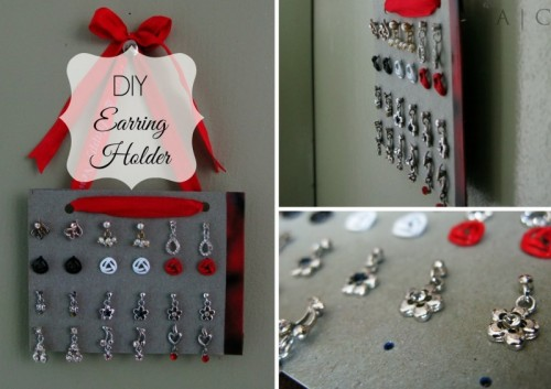 Diy Cardboard Earrings Holder