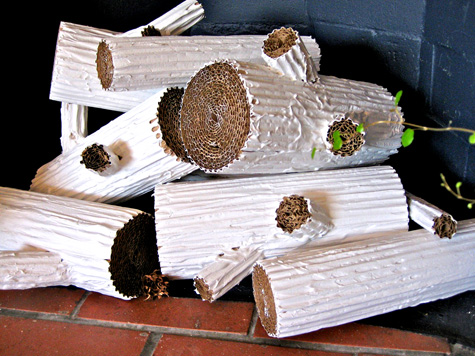 Diy Cardboard Faux Logs