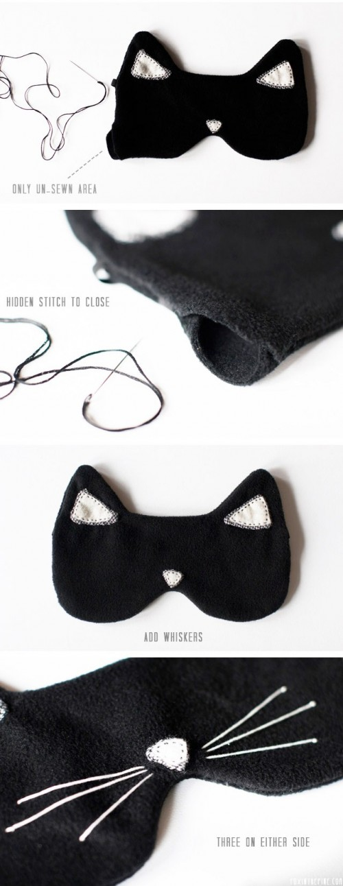 Diy Cat Eye Mask For A Comfortable Sleep