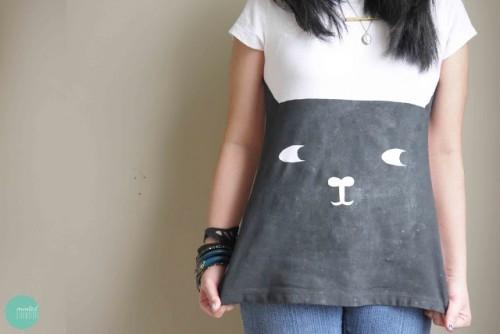 Diy Cat Face T Shirt