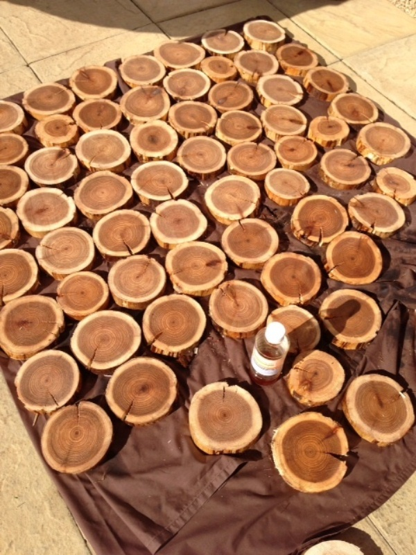 Picture Of Diy Cedar Logs Wall Decor