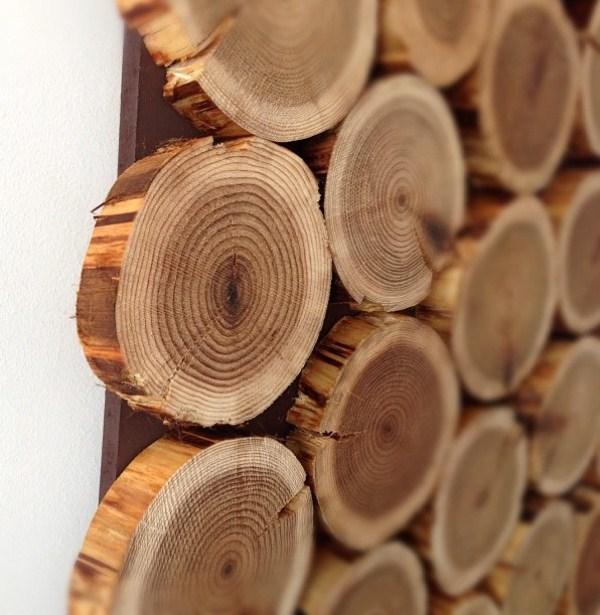 Diy Cedar Logs Wall Decor | Shelterness