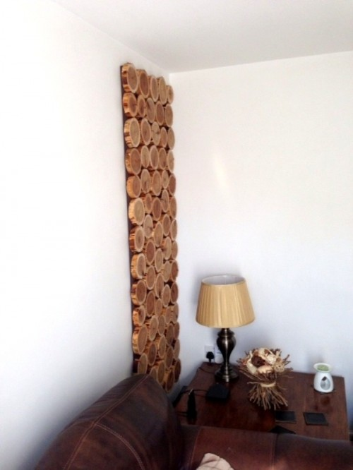 Diy Cedar Logs Wall Decor Shelterness