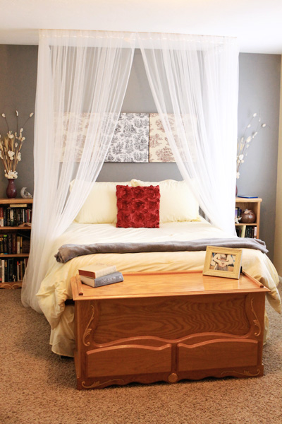Canopies For Beds 5 diy ceiling mounted bed canopies - shelterness