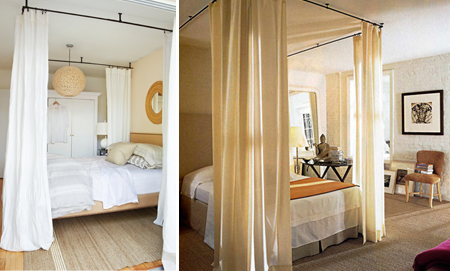 faux ceiling canopy (via houseandhome) : ceiling canopies for beds - memphite.com
