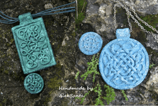DIY Celtic Necklace Of Polymer Clay