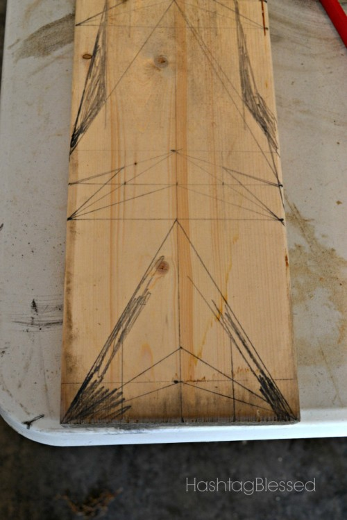 DIY Chalkboard Arrow Growth Chart