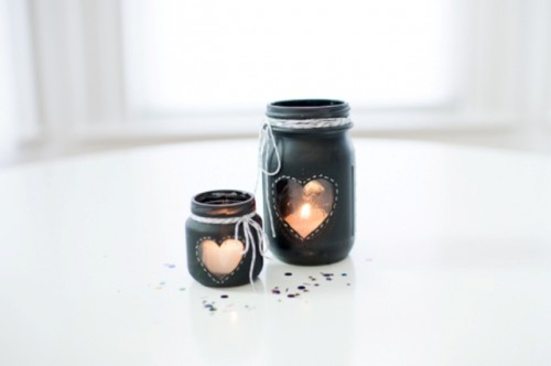 Cute DIY Chalkboard Candle Holder