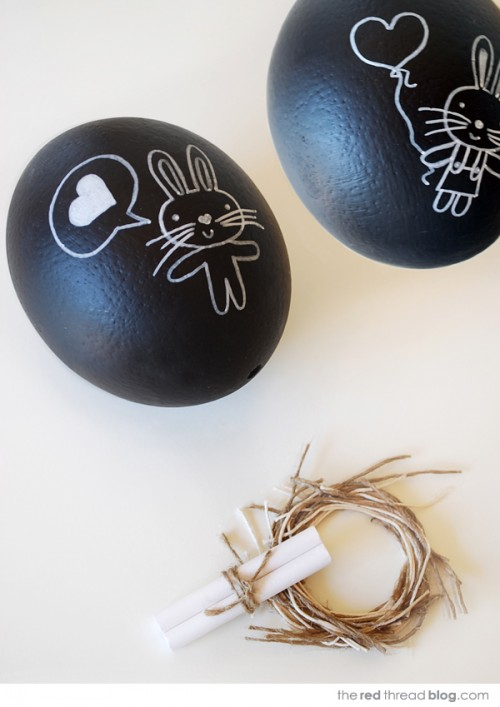 Diy chalkboard eggs to give as an easter gift shelterness diy chalkboard eggs to give as aneaster gift negle Image collections
