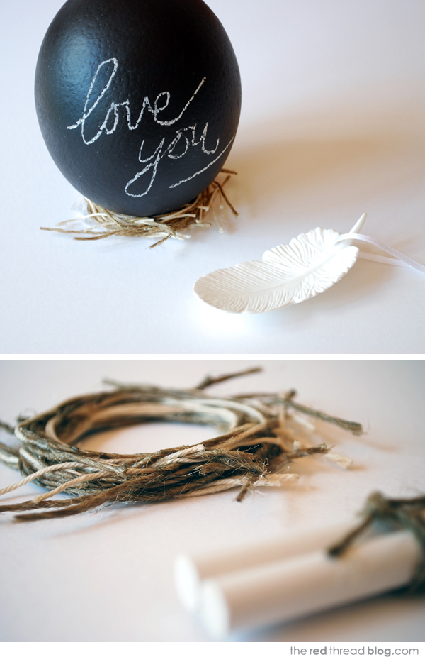 Diy Chalkboard Eggs To Give As Aneaster Gift
