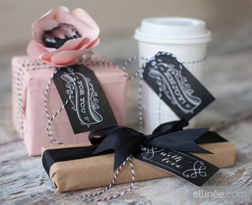 Diy Chalkboard Gift Tags