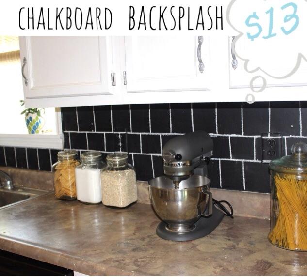 simple chalkboard backsplash