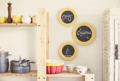 Diy Chalkboard Plates For Wall Decor