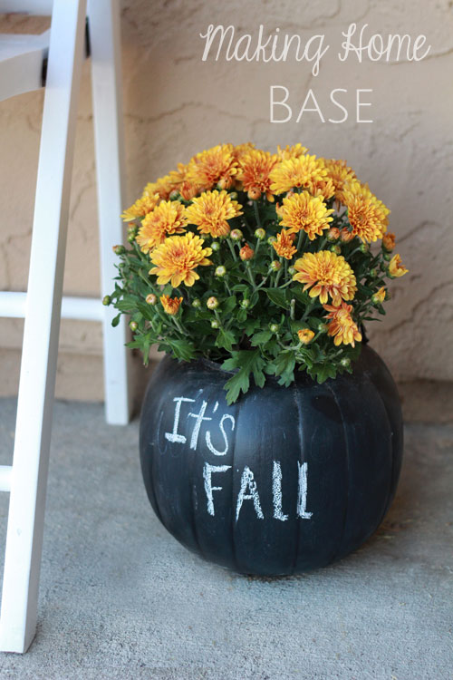 Diy Chalkboard Pumpkin Planter