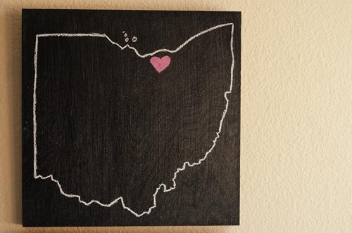 Diy Chalkboard States Wall Art