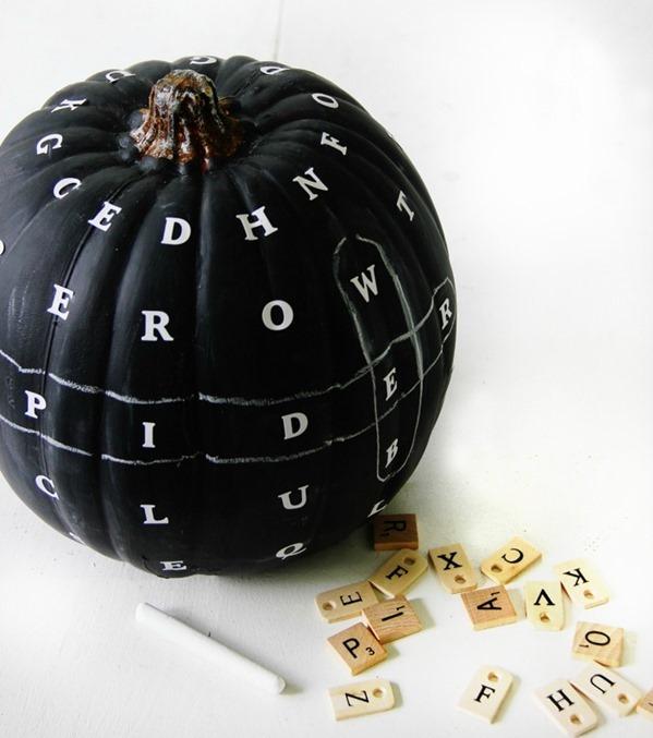 Diy Chalkboard Word Find Pumpkin