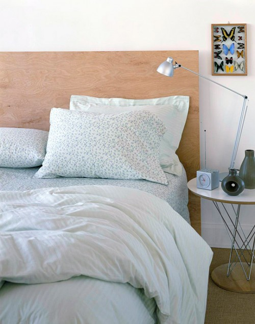 Diy cheap minimalist headboard shelterness Homemade headboard ideas cheap